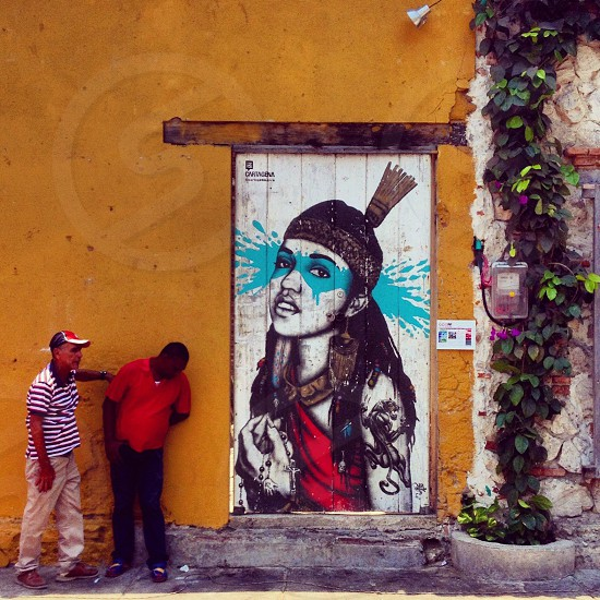 Cartagena de Indias street art (artist: FINDAC) photo