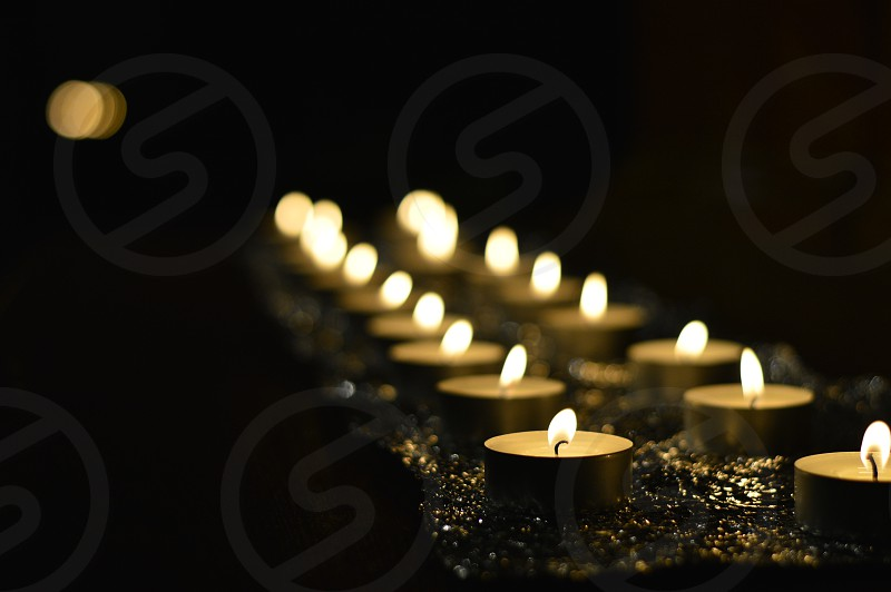 Candles on the altar photo