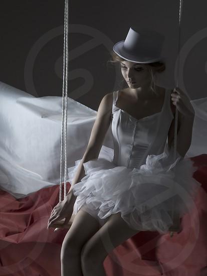 1/3 of a dark circus fashion editorial. Model: Jessica Mawle. Makeup: Amy Maetche. Hair/Styling: Glynnis Mutch photo