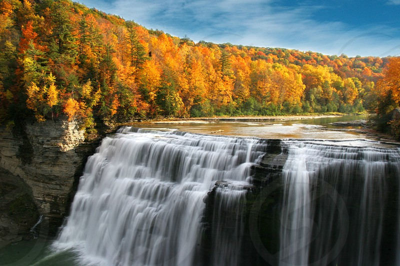 Letchworth state park upper falls. photo
