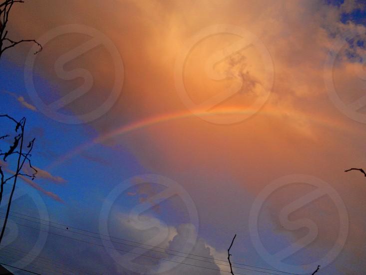 rainbow sky nature photo