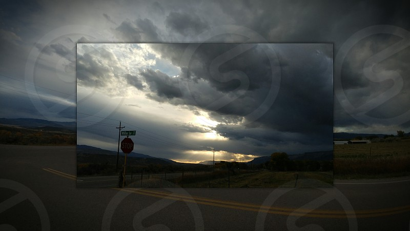 Mile High Sunset on Highway 6 & Miller Lane in CO photo