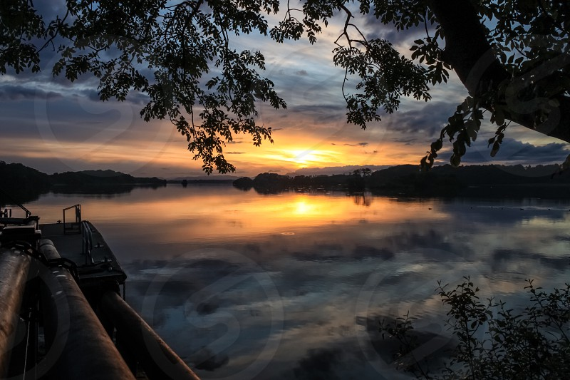 Reflection lake water sunset nature landscape Ireland Killarney  photo