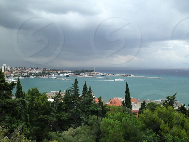 View over Split Croatia photo