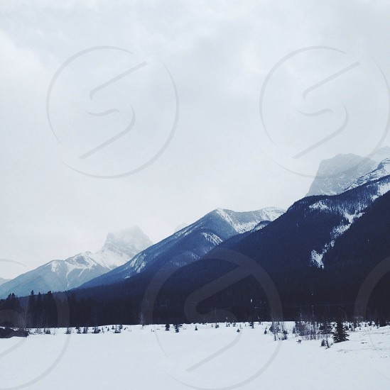 mountain with snow alps photography photo
