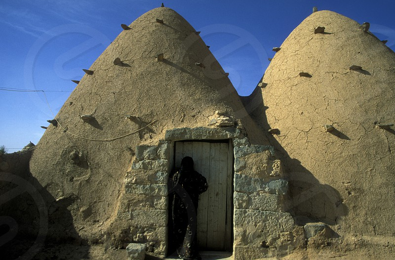 traditional Houses in the Village of Sarouj near Hama in Syria in the middle east photo