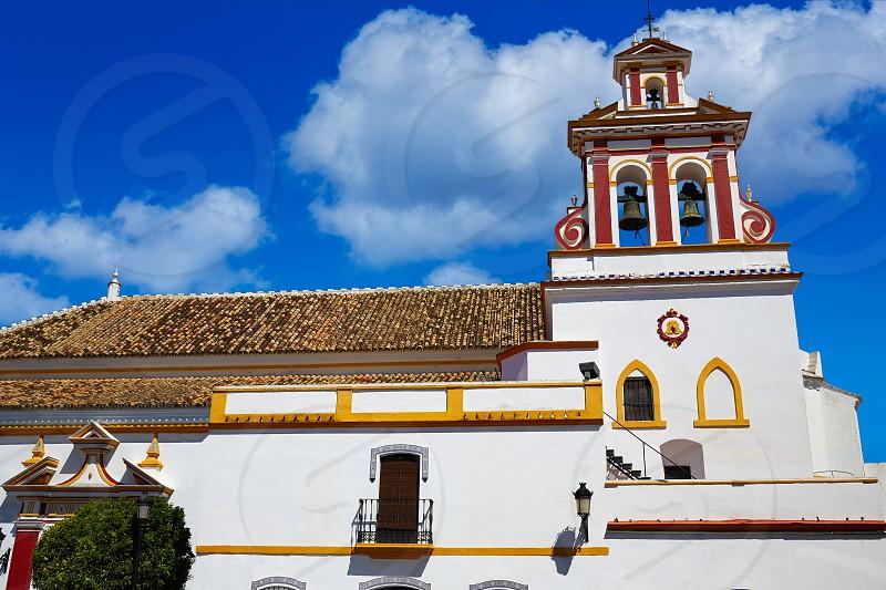 Guillena church on the via de la Plata way at andalusia spain photo