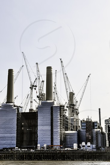View over the river Thames towards Battersea power station. photo