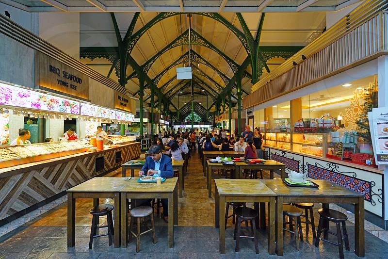The Lau Pa Sat market in Singapore photo