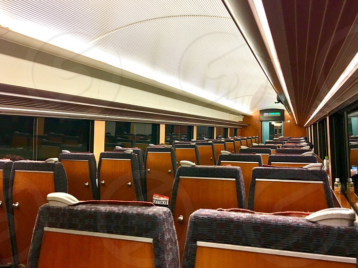Inside of train  photo