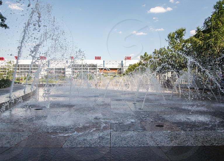 Fountain in Houston. photo