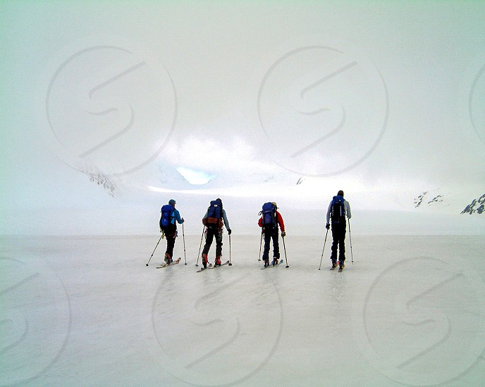 Winter Ski Mountaineering. photo