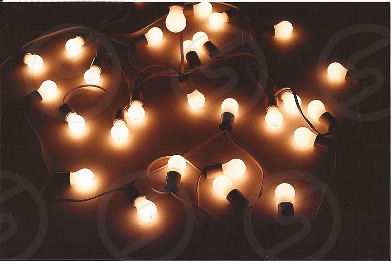 orange light bulbs photo