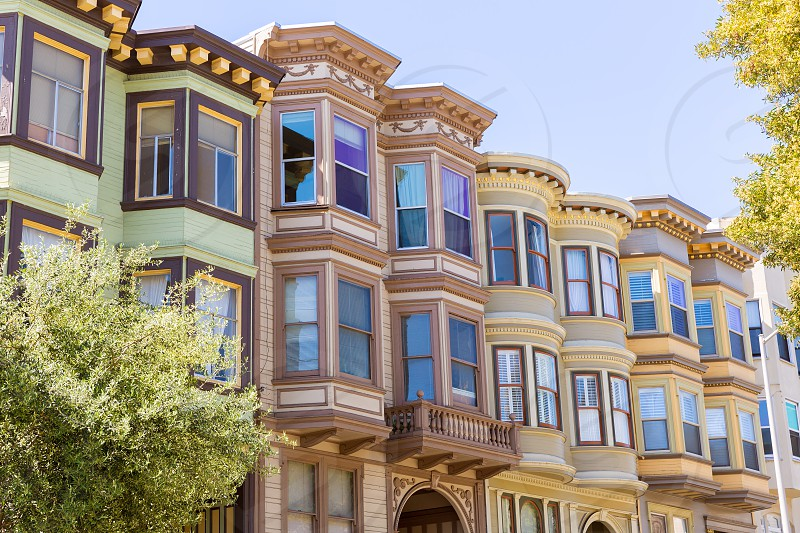 San Francisco Victorian houses near Washington Square California USA photo
