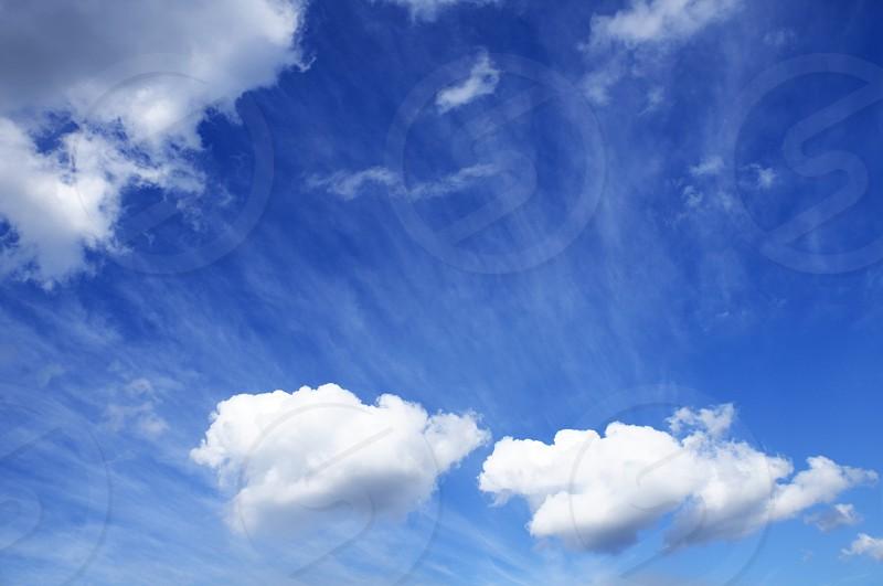 Cumulus clouds in the sky. photo