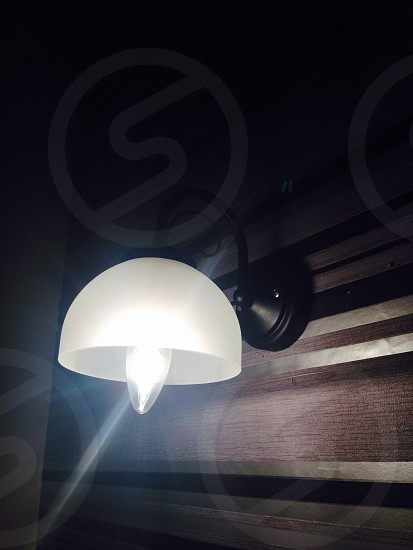 Diy lighting. Sprayed with black enamel. photo
