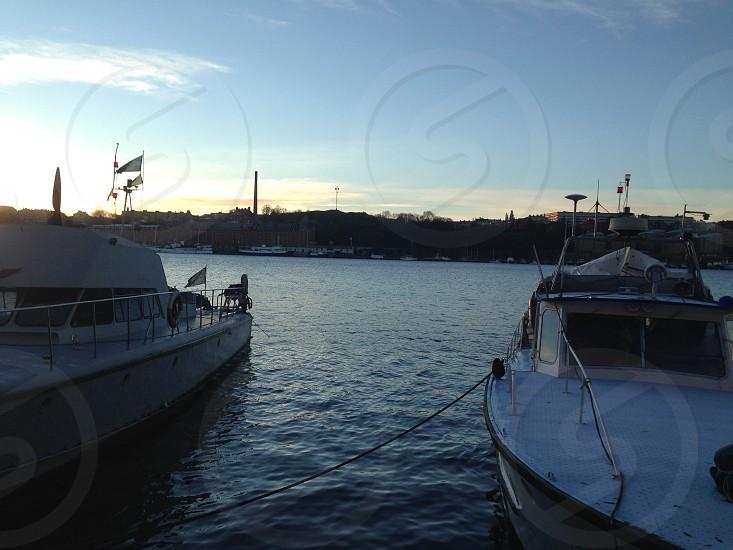 Stockholm Sweden Sunrise River photo
