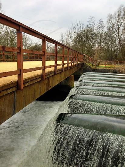 view of the brown bridge photo