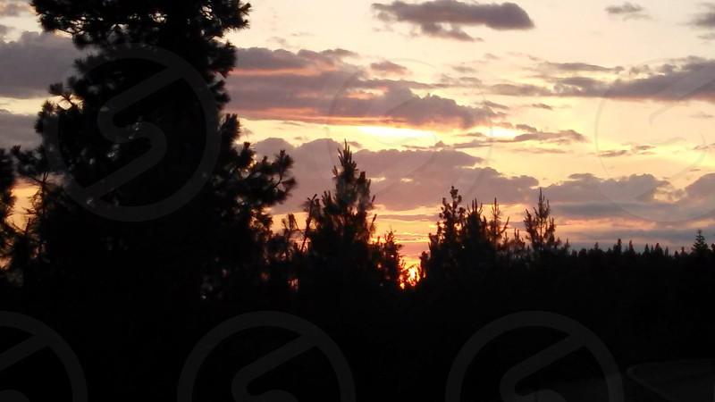 Sunset in Coeurd' Alene  Idaho photo