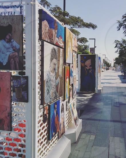 Street art display Citywalk Dubai photo