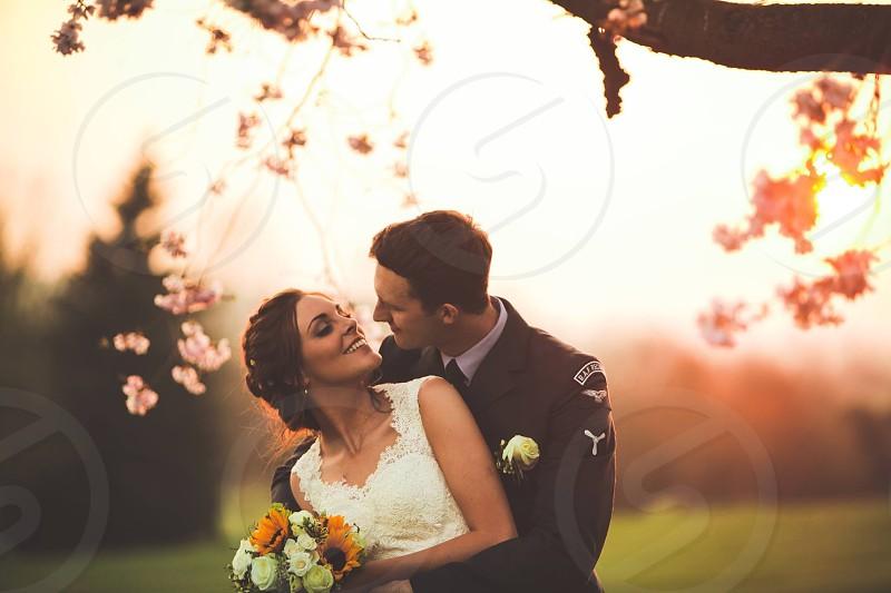 Wedding weddingphotography bride brideandgroom sunset goldenhour  photo