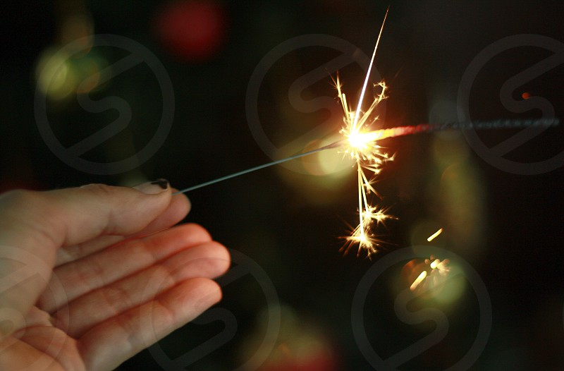 Happy New Year with sparklers 5 photo