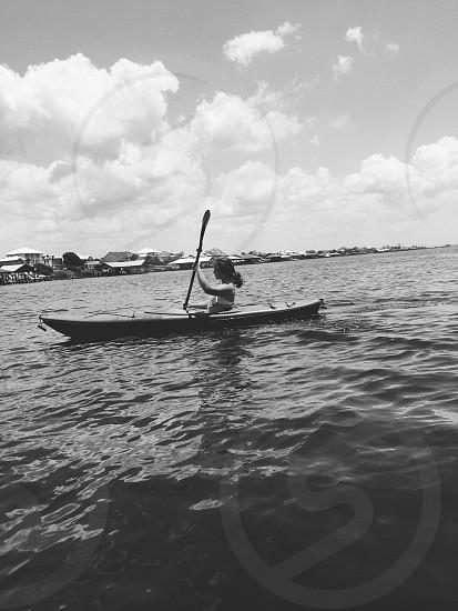 Kayaking on the bay.  photo