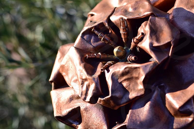 Metal flower- work of art photo
