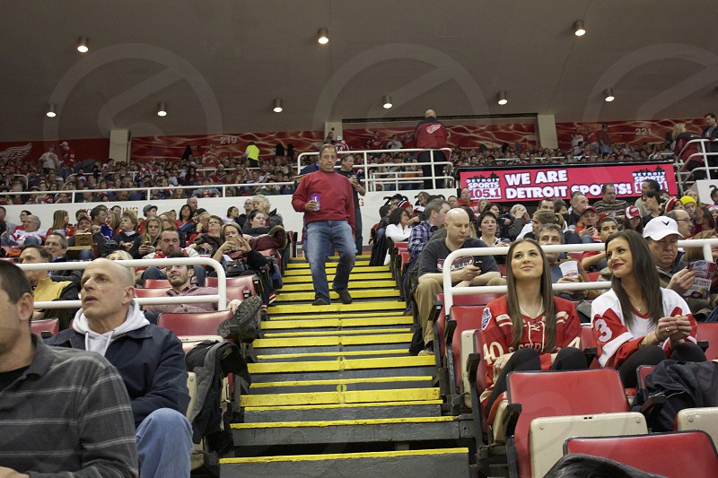 Lovely crowd at the Joe Louis Arena photo