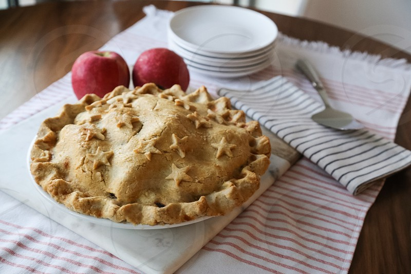 Apple pie pie holiday food Independence Day Fourth of July July 4th Stars and Stripes stripes photo