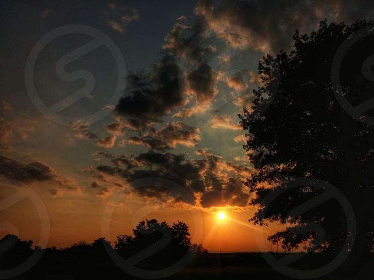 #sunset #warm #farmland #pennsylvania #relax #peaceful photo