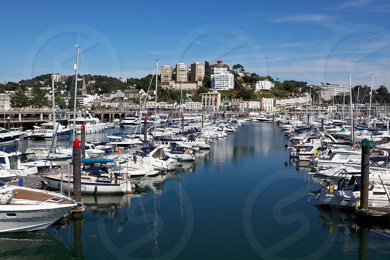 TORQUAY DEVON/UK - JULY 28 : Boats in the Marina in Torbay Devon on July 28 2012. Unidentified people. photo