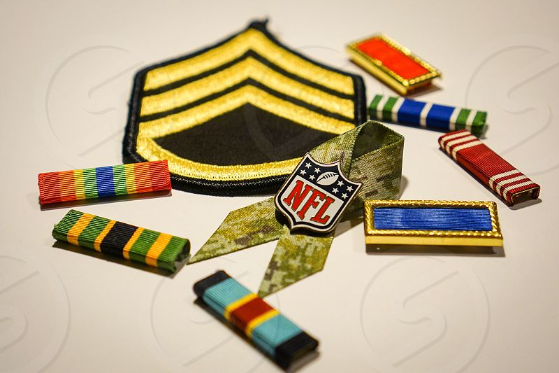 Military salute salute to the troops military appreciation month military army ribbon ribbons awareness  photo