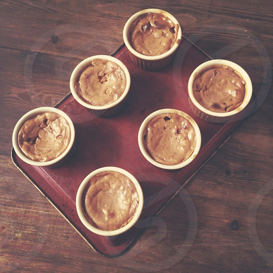 Mini pumpkin pies. photo