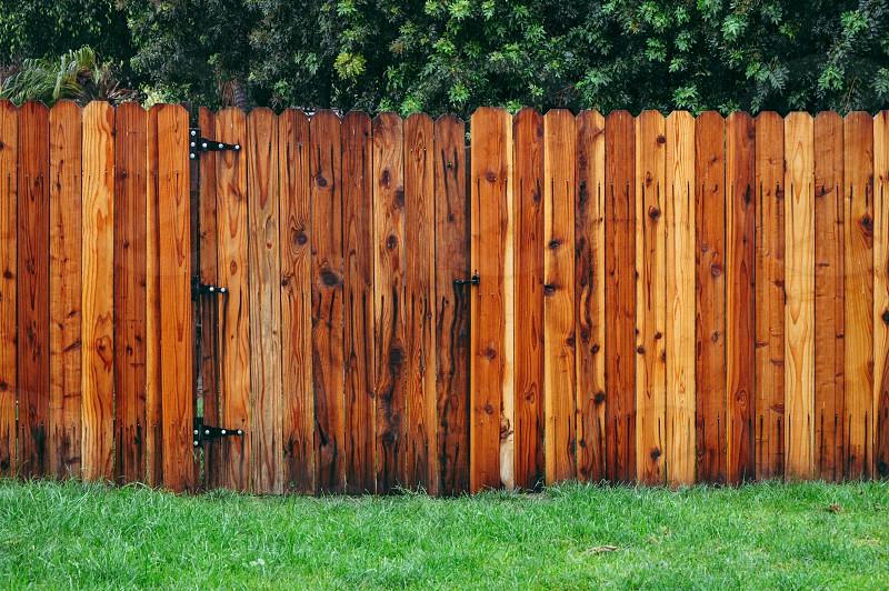 closed fence door photo
