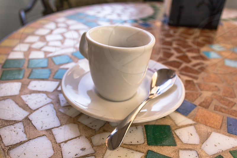 Espresso on a mosaic table photo