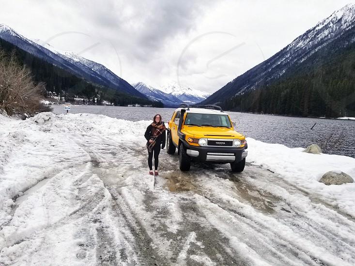 roadtrip snow mountains adventure photo