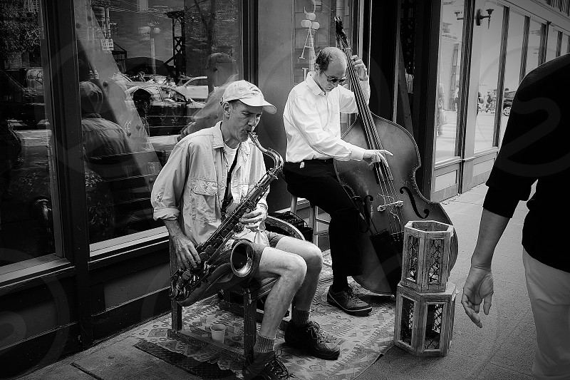 Street musician photo