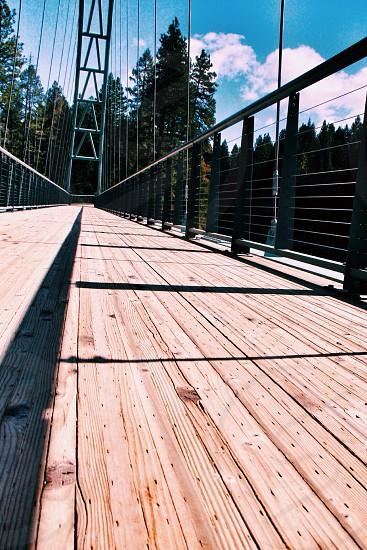 bridge empty of people photo