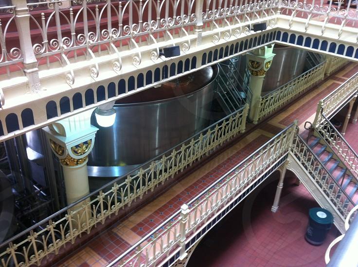 stairs railings brewery photo
