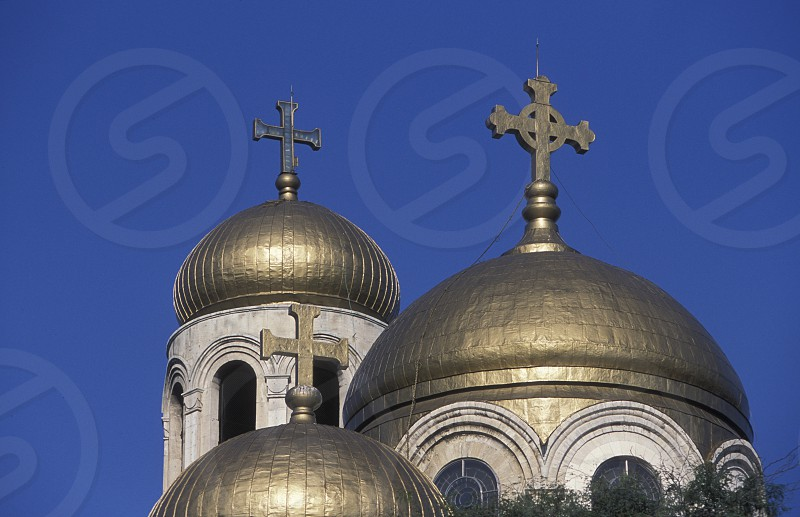 the Cathedral in the city centre of Varna on the Blacksea in Bulgaria in east Europe. photo