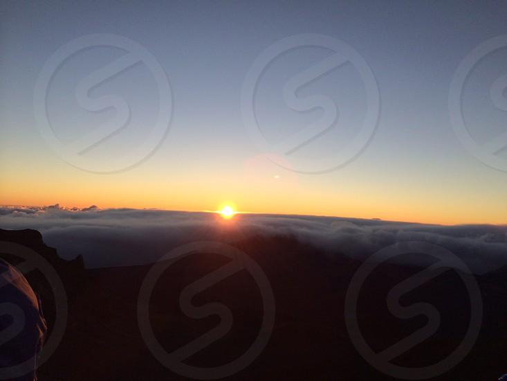 Sunrise atop Mt. Haleakala.  photo