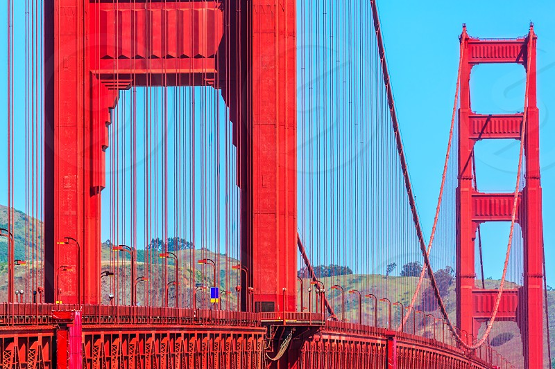 Golden Gate Bridge details in San Francisco California USA photo