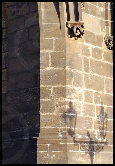 Lantern shadow in Prague  photo