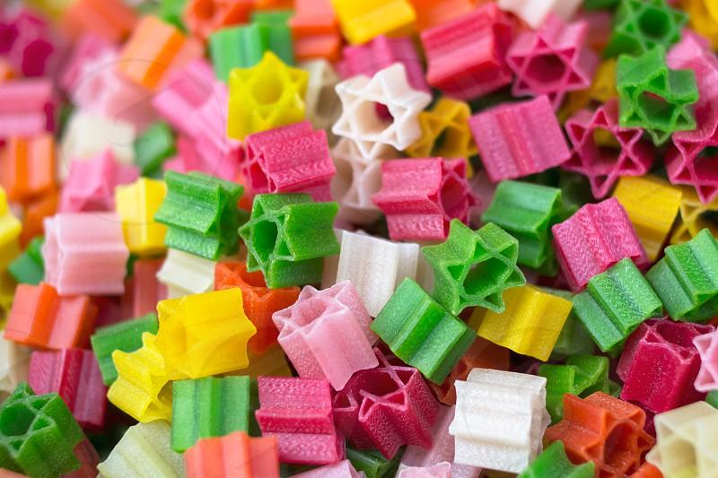 colorful pasta photo