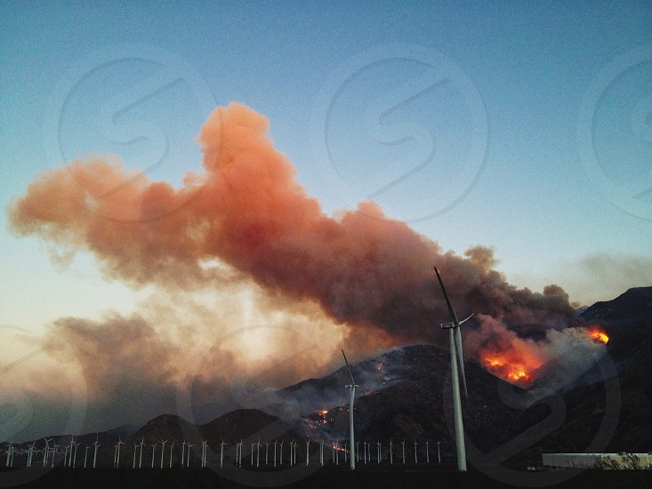 white windmill generator  photo