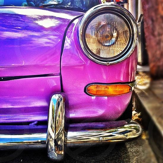 Purple VW bug photo