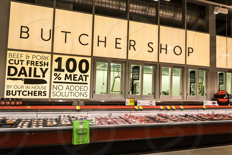 local business butcher meat food shop photo