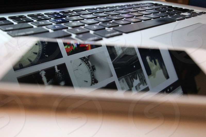 Smartphone and laptop. photo
