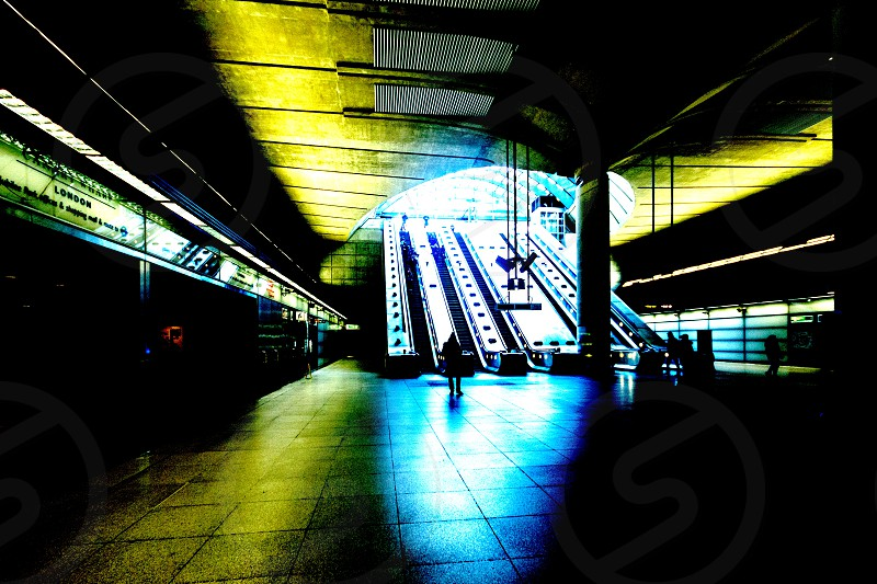 Entrance of a London Underground Station. (slightly modified ;-) photo